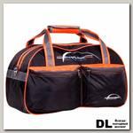 Спортивная сумка Polar П05/6 Черный (оранжевый кант)