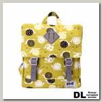 Рюкзак 8848 Fuzzy детский с принтом 'Улитки' Желтый/Серый/Белый