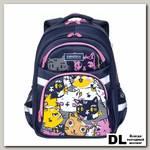 Школьный рюкзак Grizzly RG-965-4 Коты цветные
