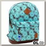 Рюкзак Bagland Молодежный 17 л Голубой/Цветы
