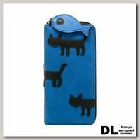 Кошелек 'Коты' (синий)