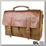 Кожаный портфель Carlo Gattini Gisbarro brown