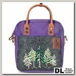 Рождественская маленькая сумка Ginger Bird фиолетовый