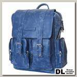 Кожаный рюкзак-сумка Carlo Gattini Fiorentino blue