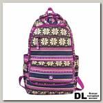 Молодёжный рюкзак BRAUBERG Фиолетовые узоры Канвас