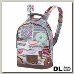 Детский рюкзак Asgard Р-5414 ПончикиГазета серый
