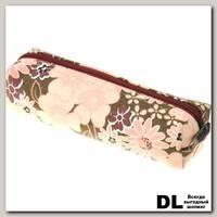 Пенал Цветы бордо-беж-роз С-5510