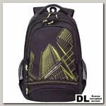 Рюкзак Grizzly RU-804-3 (черно-салатовый)