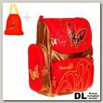 Ранец Mike&Mar 1074-MM-506 Бабочка (красный/бронзовый)