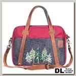 Рождественский портфель Ginger Bird бордовый