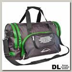 Спортивная сумка Polar П02с Черный (зеленые вставки)
