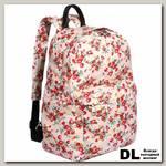 Женский рюкзак Pola 4345 Цветы бежевый