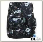 Рюкзак Bagland Amy 16 л Черный с птицами и цветами