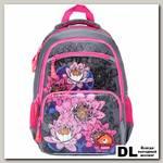Школьный рюкзак Orange Bear V-51 Flowers серый