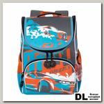 Рюкзак школьный с мешком Grizzly RA-972-3 Серый/Голубой