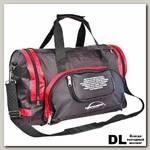 Спортивная сумка Polar П02с Черный (красные вставки)