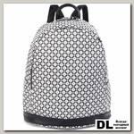 Женский кожаный рюкзак Orsoro d-447 ромбы