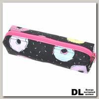 Пенал Пончик черно-розовый С-5110
