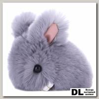 Брелок мини кролик (серый)