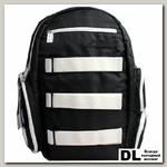 Рюкзак с креплением для скейтборда FLIPSIDE черный-белый
