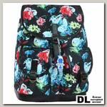 Рюкзак Bagland Amy 16 л Черный с цветами
