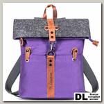 Рюкзак-скрутка Ginger Bird фиолетовый