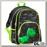 Рюкзак Hama Dino (черный/зеленый)