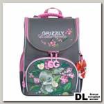 Рюкзак школьный с мешком Grizzly RA-973-3 Серый