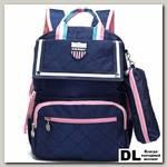 Рюкзак школьный в комплекте с пеналом Sun eight SE-2710 Синий