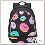 Рюкзак школьный Grizzly RG-069-1 Чёрный