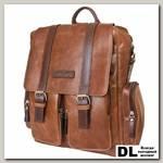 Кожаный рюкзак-сумка Carlo Gattini Fiorentino cognac/brown