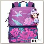 Школьный рюкзак Grizzly Birdie Purple Ra-672-1