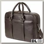 Вместительная деловая сумка BRIALDI Longstock (Лонгсток) relief brown