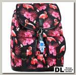 Рюкзак Bagland Amy 16 л Черный с фламинго