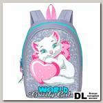Рюкзак школьный Grizzly RS-896-1 Серый