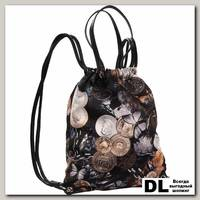 Рюкзак на шнурках Pola 4350 Монеты черный