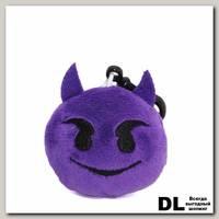 Брелок смайлик 'Чертик' (фиолетовый)