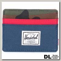 Кошелек Herschel CHARLIE NAVY/WOODLAND CAMO/RED