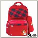 Школьный рюкзак BRAUBERG с пеналом Лиса