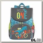 Рюкзак школьный с мешком Grizzly RAm-085-3 Серый/Голубой