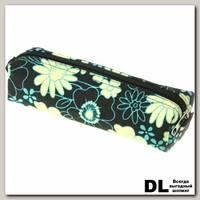 Пенал Цветы черные-беж-гол С-5510