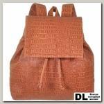 Женский рюкзак Asgard Р-5281 Крокодил Теракотовый