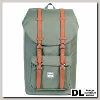 Рюкзак HERSCHEL LITTLE AMERICA Deep Lichen Green/Tan Synthetic Leather
