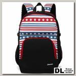 Школьный рюкзак Sun eight SE-APS-5002 Чёрный/белый/красный/синий