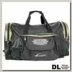 Спортивная сумка Polar П01 Черный (зеленые вставки)