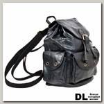 Кожаный рюкзак Polar 0302 Черный