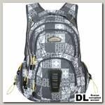Школьный рюкзак Monkking Patch темно-серый