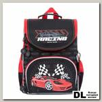 Рюкзак школьный с мешком Grizzly RAm-085-6 Чёрный/Красный