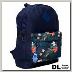 Рюкзак Bagland Молодежный 17 л Синий/Цветы