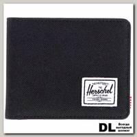 Кошелек Herschel Hank BLACK/BLACK SYNTHETIC LEATHER